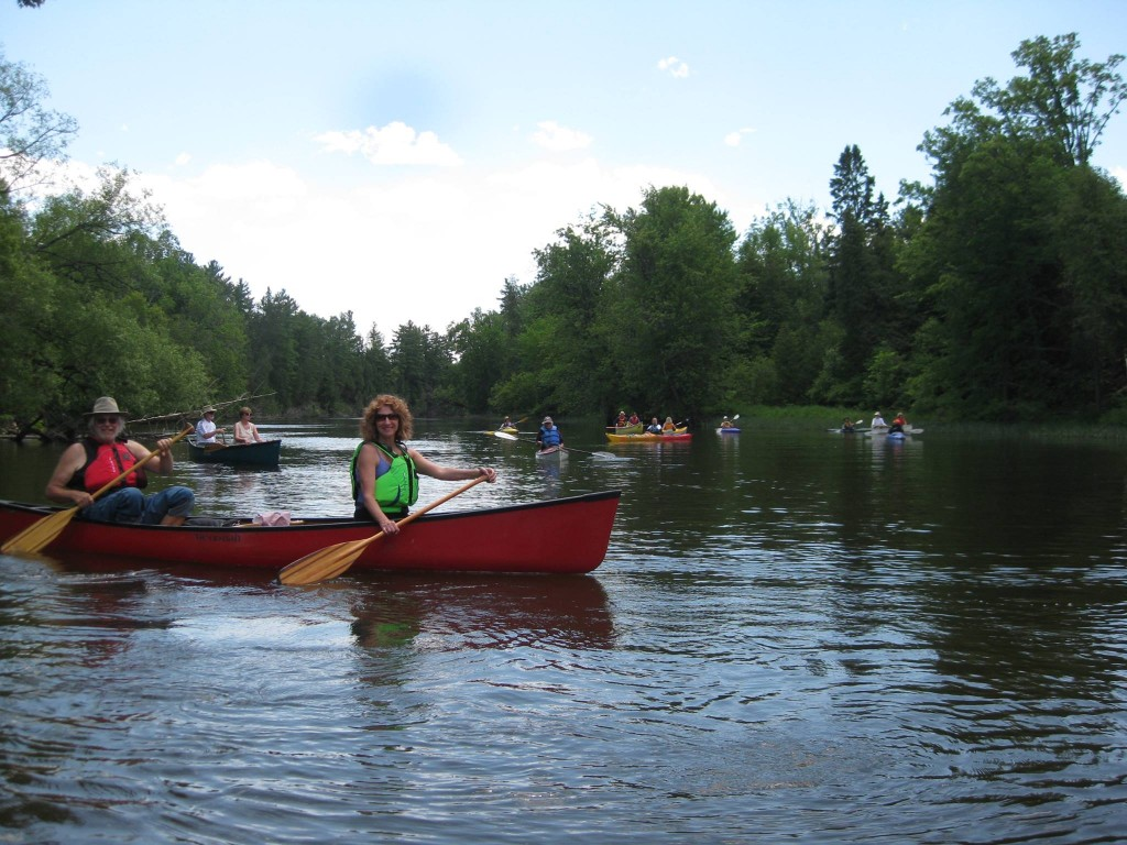 Murray & Elizabeth Canoeing on the Bonnechere